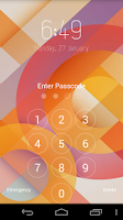 Screenshot of Keypad Lock Screen