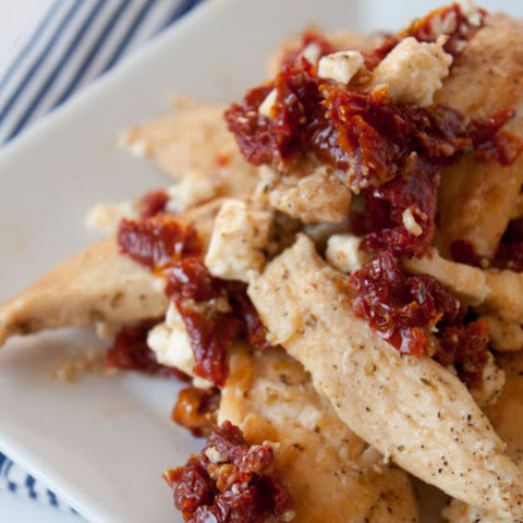 Chicken with Sun Dried Tomatoes and Feta