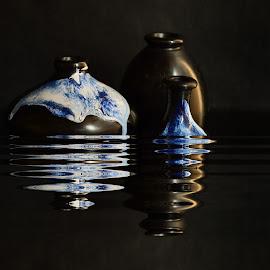 Pots' Reflection by Prasanta Das - Digital Art Things ( water, reflection )