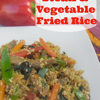Steak and Vegetable Fried Rice