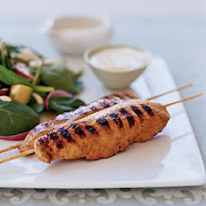 Yogurt-and-Spice Grilled Chicken Skewers
