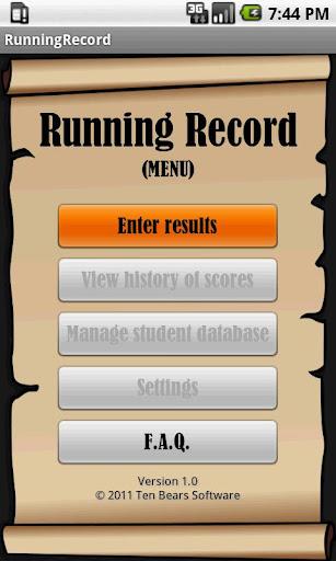Running Record FREE