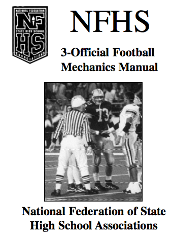 Football Signals for PFOA & NFHS Flashcards | Quizlet