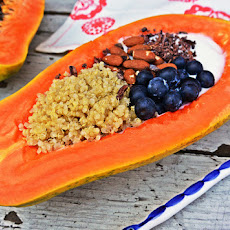 Papaya Quinoa Breakfast Bowl