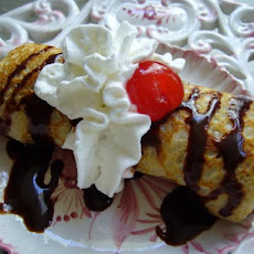 Banana Split Dessert Crepes