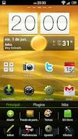 Screenshot of Go Launcher Theme: HTC Sense 4