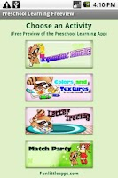 Screenshot of Preschool Learning Freeview