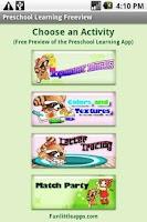 Screenshot of Preschool Learning Freeview