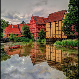 Aarhus by Fred Coleman - City,  Street & Park  Historic Districts ( building, europe, den gamle by, neighborhood, architecture, town, denmark, aarhus, baltic )