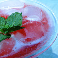 Raspberry Caipirinha with Mint