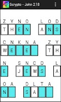 Screenshot of Scrypto Bible Cryptograms