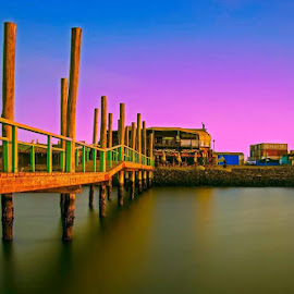 Jetty by Andre Bez - Buildings & Architecture Other Exteriors ( water, sunset, sea, jetty, aqua, waterfront )