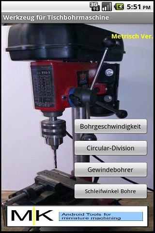 TischBohrer Werkzeug