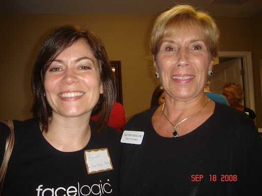 Bonnie Wickland of facelogic spa and Carol Goebel of Trail Wind Travel