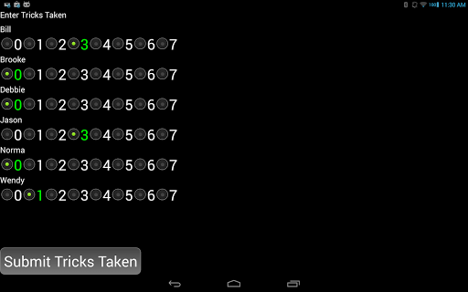 WIZARD Score Pad - screenshot