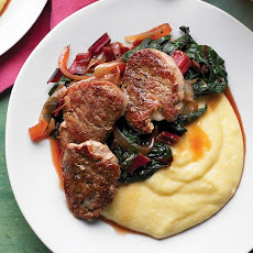 Pork Tenderloin with Swiss Chard and Polenta