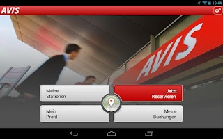 Screenshot of Avis für Tablet