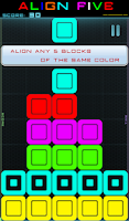 Screenshot of ALIGN FIVE color blocks puzzle