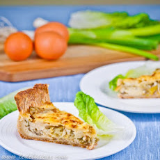 Lettuce, Spring Onion & Cheese Tart