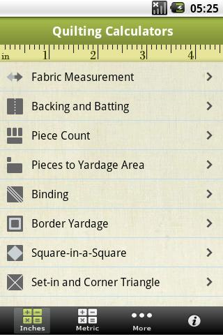quilting-calculators for android screenshot