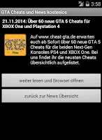 Screenshot of Cheat-GTA.de App