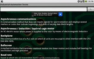 Screenshot of Industrial Automation TermsJr