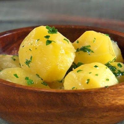 Tourned Steamed Potatoes