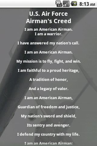 U.S. Air Force Airman's Creed