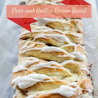 Pear and Golden Raisin Braided Bread