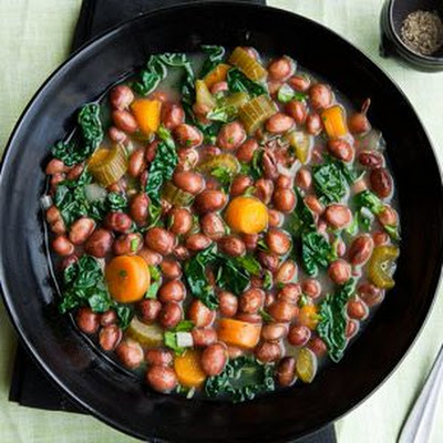 Kale and Good Mother Stallard Bean Stew