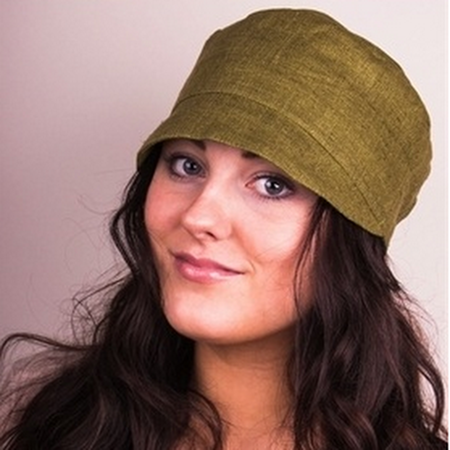 Olive silk soft hat