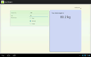 Screenshot of Ideal Weight +