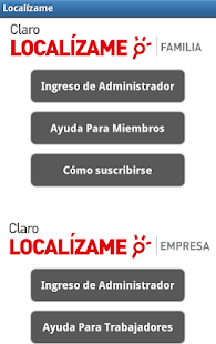 Claro Localizame HN - screenshot