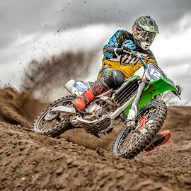 Power Out by Chris Richards - Sports & Fitness Motorsports ( roost, motorbike, motocross, mx, kawasaki )