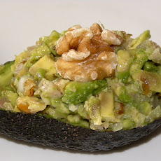 Avocado stuffed with Pickled Salt Fish: Bohl-Jol
