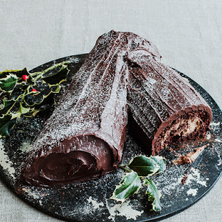 "Chocolate Nutella Yule Log Cake from Jane Hornby's book ""What To Bake & How To Bake It"""