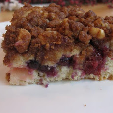 Streusel Topped Triple Berry Coffee Cake