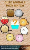 Screenshot of Kid memory: cute animals match