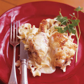 Baked Chicken with Cheese and Cream Sauce