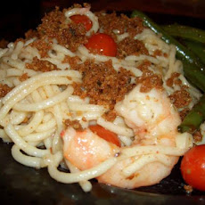Spicy Garlic Shrimp and Tomato Spaghetti