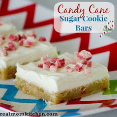 Candy Cane Sugar Cookie Bars