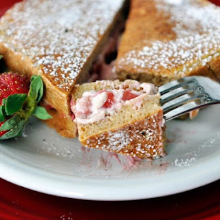 Strawberries and Cream Stuffed French Toast