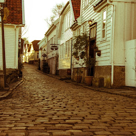 New life by Trond Strand - City,  Street & Park  Historic Districts ( white houses, houses, old, wooden, brick road, street, old town, stavanger, norway, street photography )
