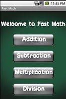Screenshot of Fast Math