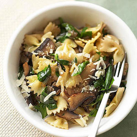 Farfalle With Mushrooms And Spinach Recipes | Yummly