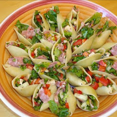 Italian Chopped Salad in Shells