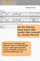 Screenshot of Expense Reports, Receipts