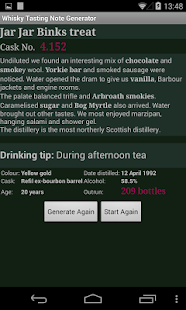 Whisky Note Generator - screenshot