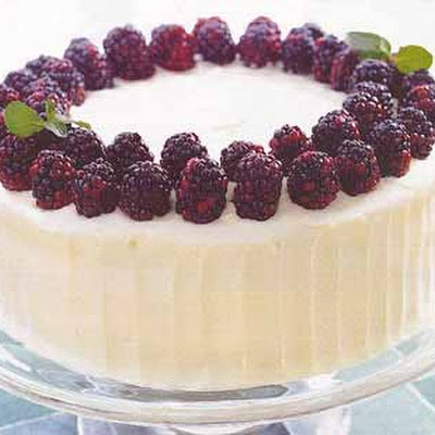 Spice Cake with Blackberry Filling and Cream Cheese Frosting