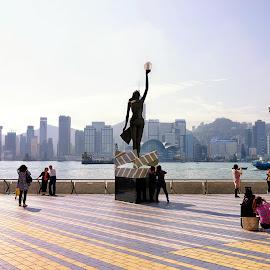 Avenue Of Stars - Hong Kong by Matthäus Rojek - City,  Street & Park  Street Scenes ( vip, hongkong, stars, street, avenue of stars - hong kong, china )